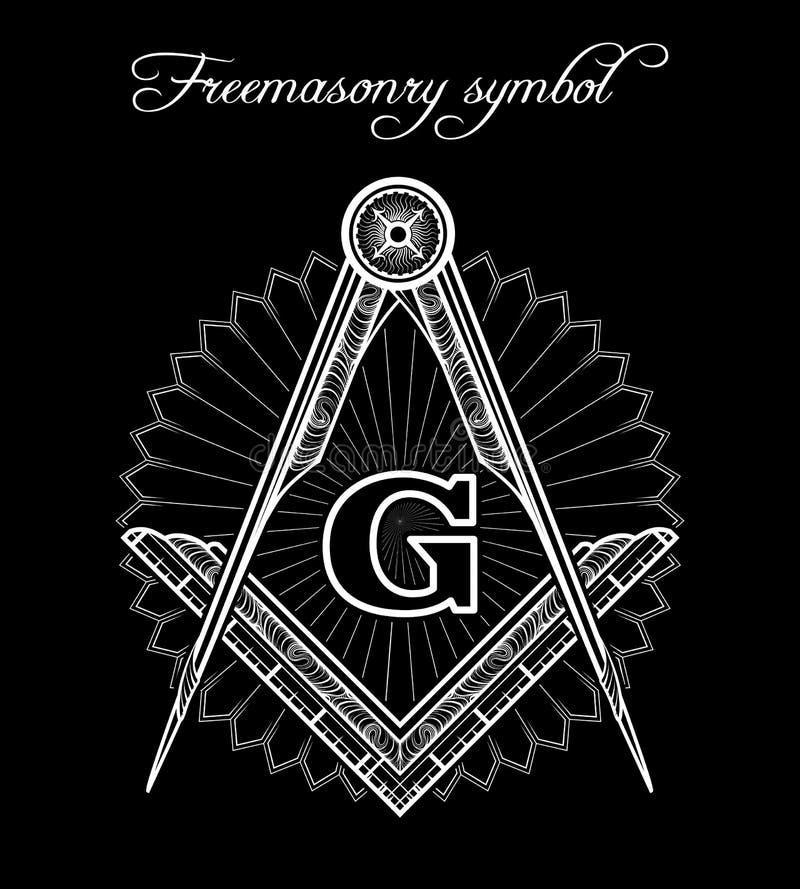 Mistyczny illuminati bractwa znak ilustracja wektor
