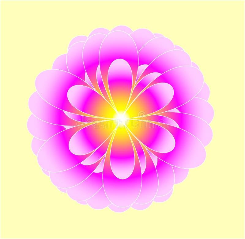 mistyczny kwiat royalty ilustracja