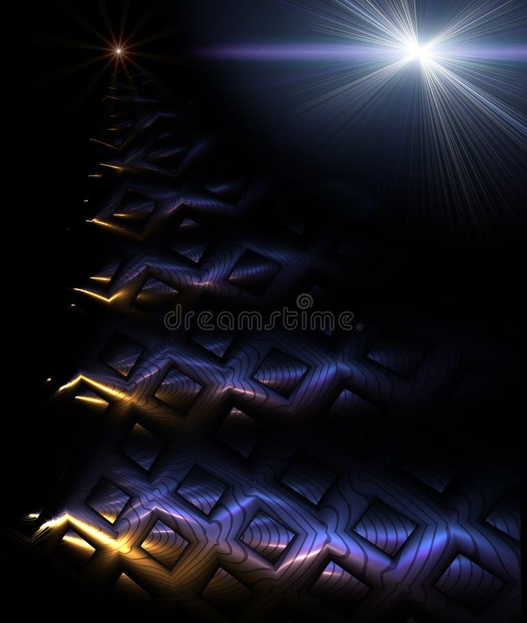 mistyczny schody ilustracja wektor