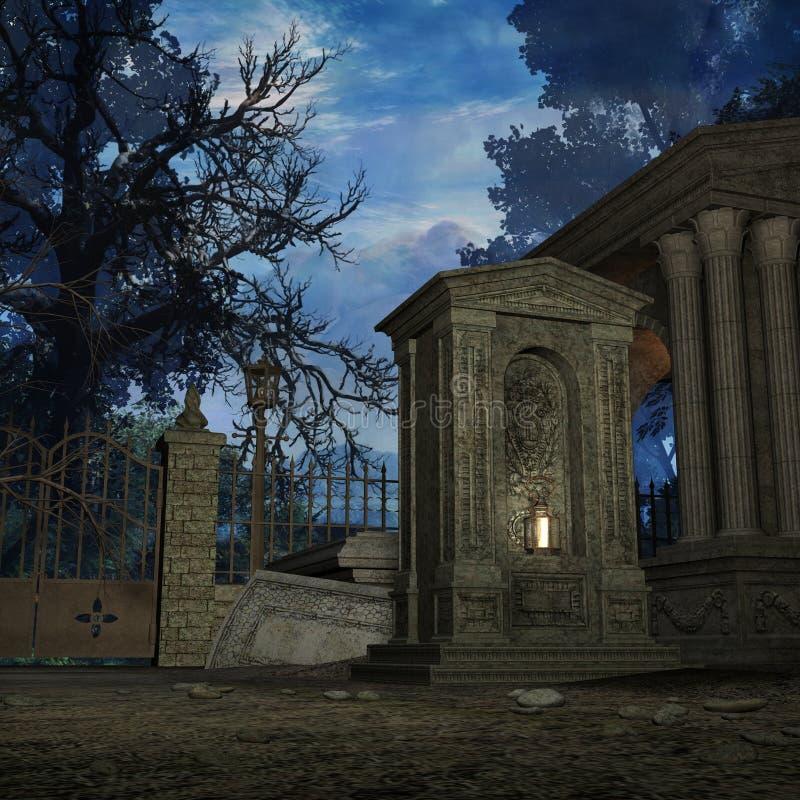 mistyk cmentarniana ilustracji