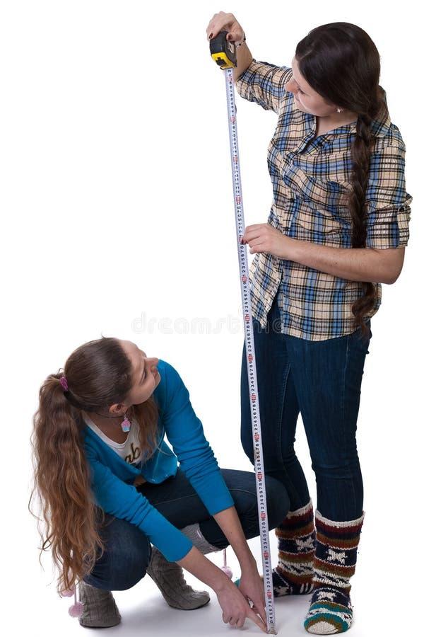 Misura delle ragazze immagini stock libere da diritti