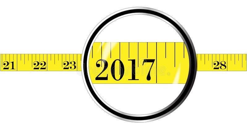 Misura di nastro 2017 illustrazione vettoriale
