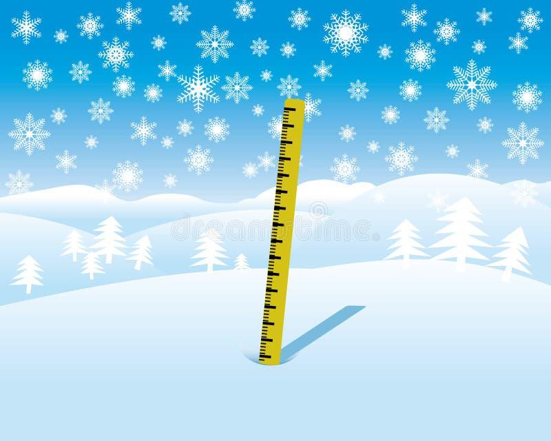 Misura di profondità della neve illustrazione di stock