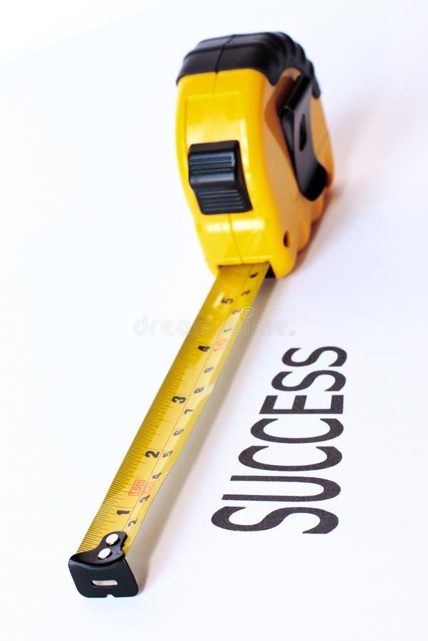 Misura di successo immagine stock libera da diritti