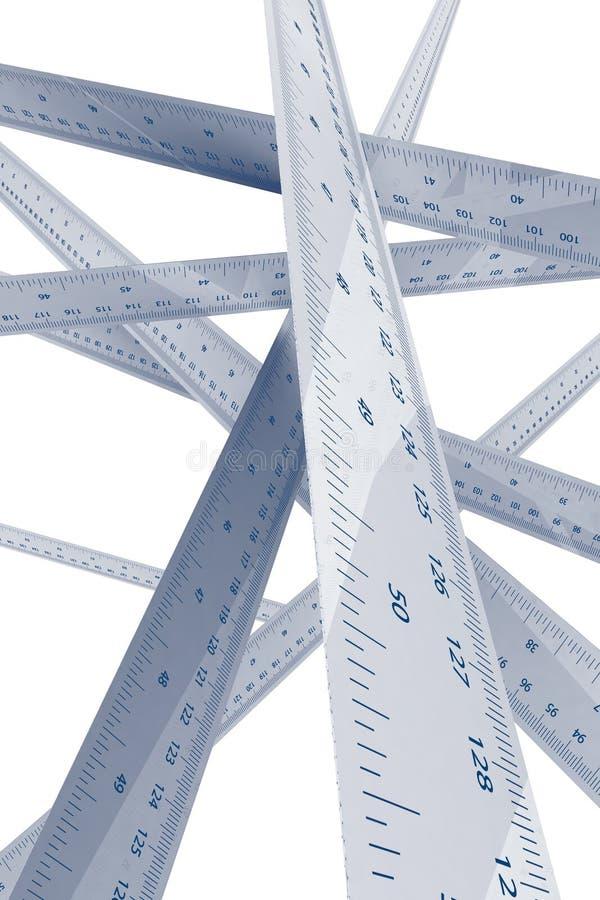 Misurazione del righello e concetto di esattezza illustrazione di stock