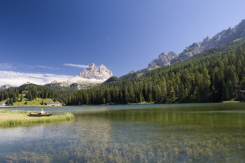 Misurina See stockfoto