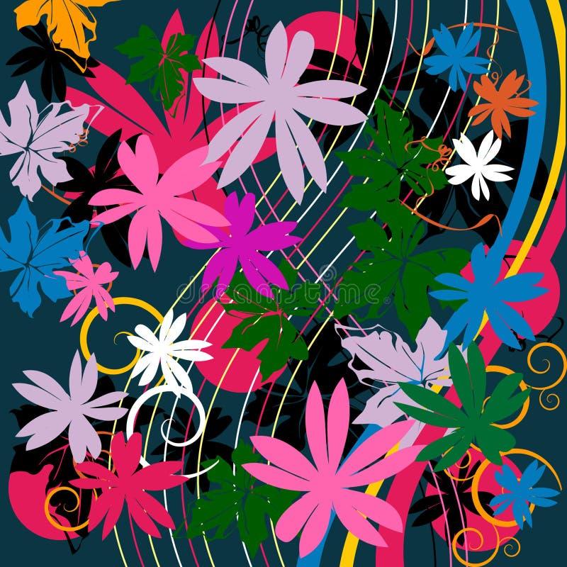 Mit Blumen lizenzfreie abbildung