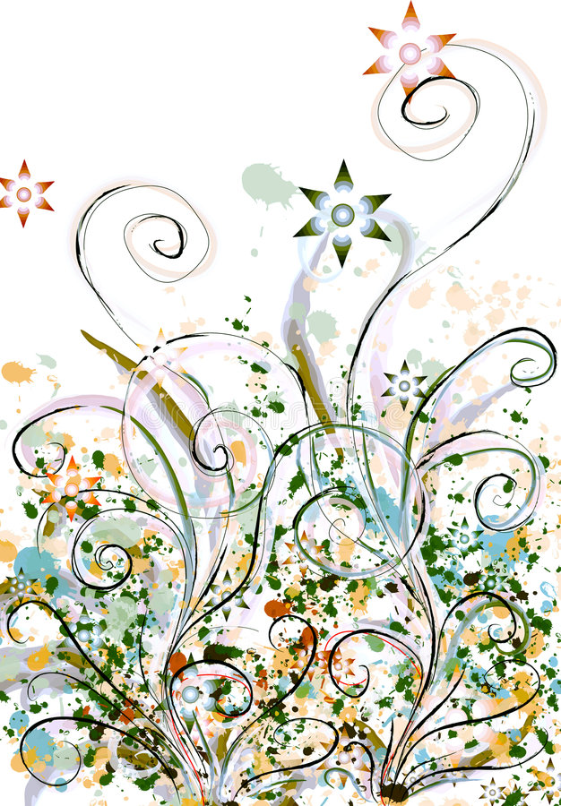 Mit Blumen stock abbildung