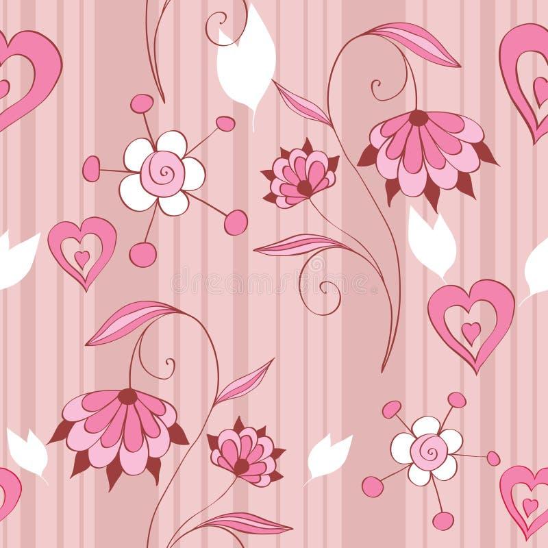 Mit Blumennahtloses lizenzfreie abbildung