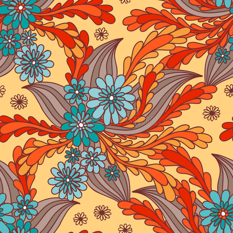 Mit Blumennahtloses vektor abbildung