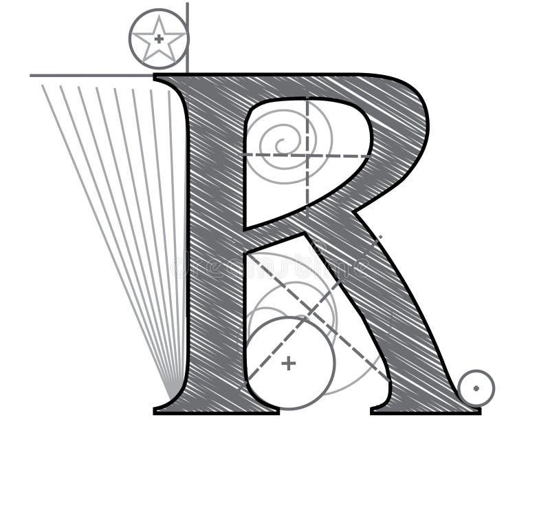 Mit Buchstaben bezeichnen Sie R vektor abbildung
