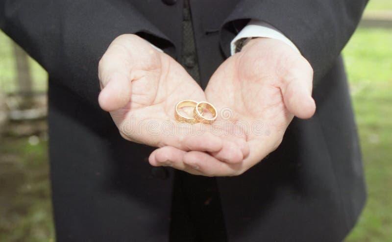 Mit diesen Ringen wed I thee stockfotos