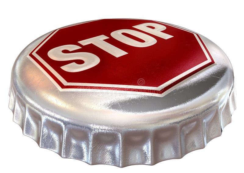 Mit einer Kappe bedeckte Grenze-Stoppschild-Schutzkappe vektor abbildung