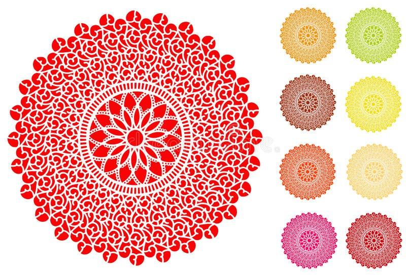 Mit Filigran geschmückter Doily (jpg+eps) vektor abbildung