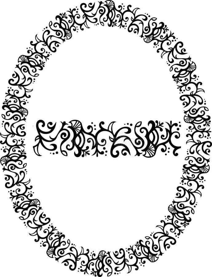 Mit Filigran geschmückter vektorrand lizenzfreie abbildung