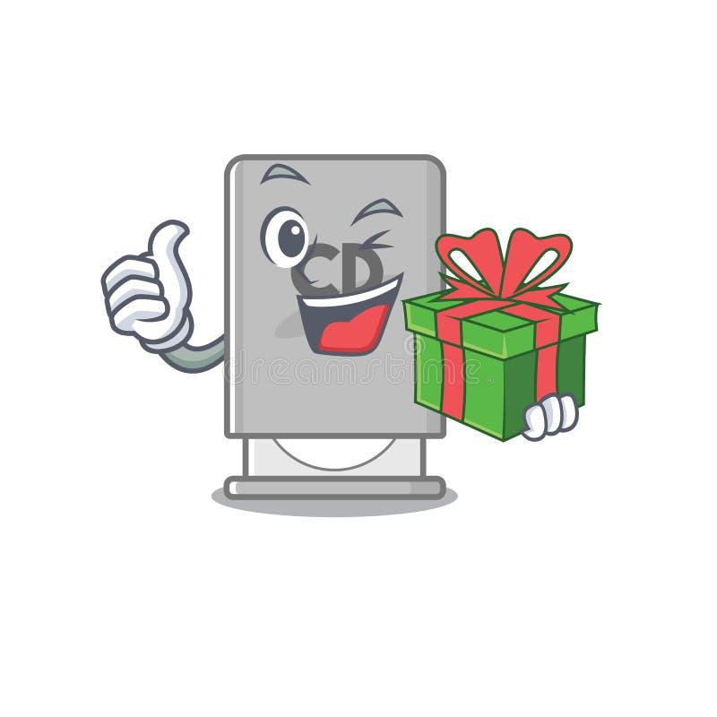 Mit Geschenk-ROM-Laufwerk mit Cartoon-Form lizenzfreie abbildung