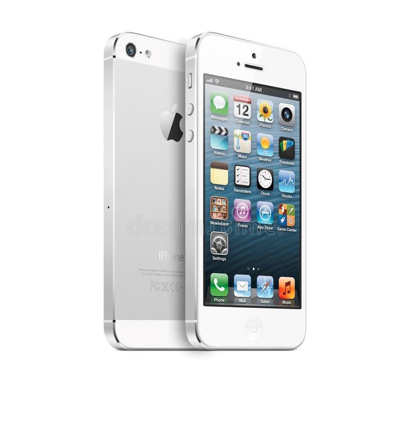 Mit IPhone 5 lizenzfreie abbildung