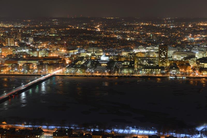 MIT kampus na Charles brzeg rzeki, Boston obraz royalty free