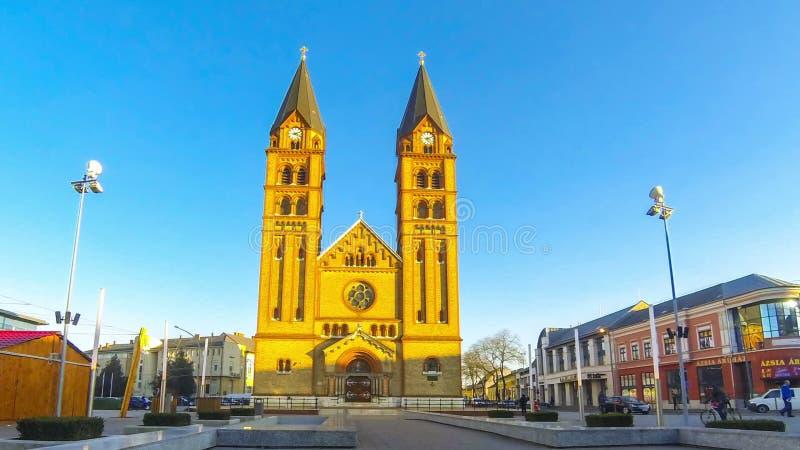 Mit-Kathedrale unserer Dame in Nyiregyhaza-Stadt, Debrecen stock footage