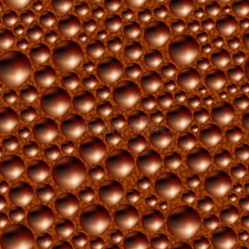Mit Kohlensäure durchgesetzte poröse schwarze Schokolade. stock abbildung