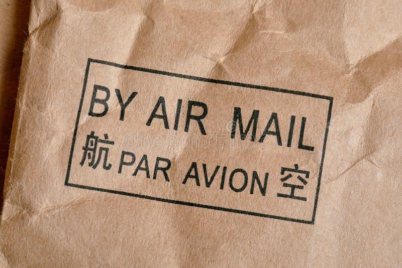 Mit Luftpost Stempel stockbilder