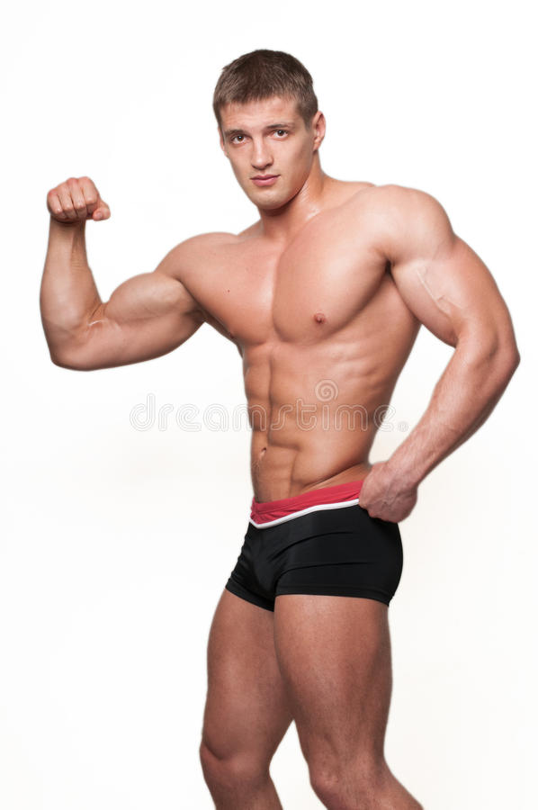 Mit Muskeln Baumuster stockbild