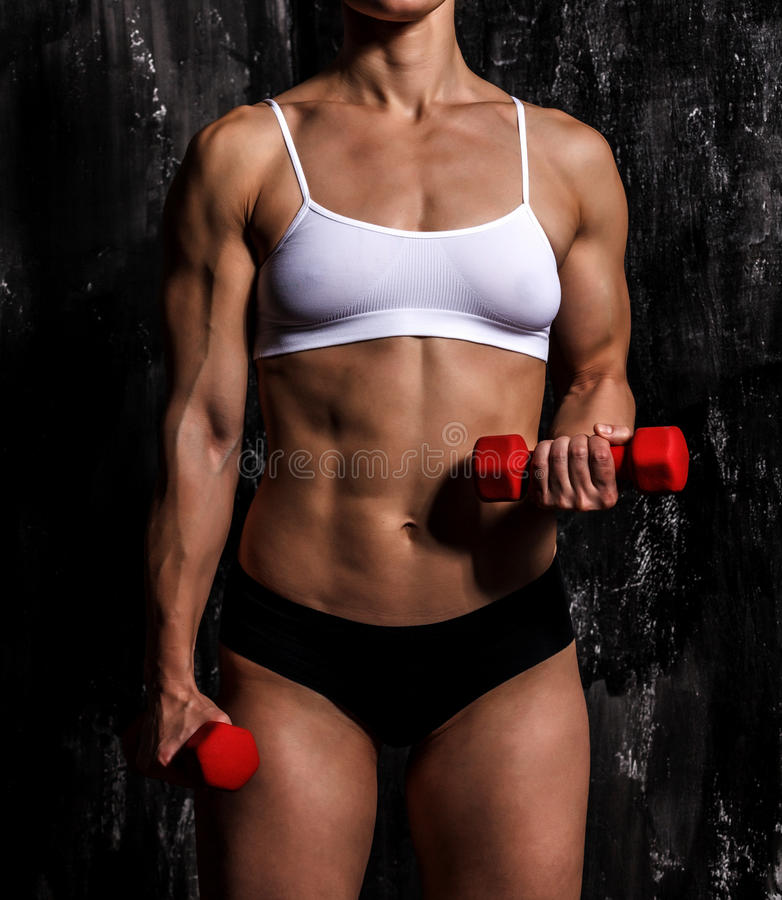 Mit Muskeln Frau lizenzfreie stockfotos