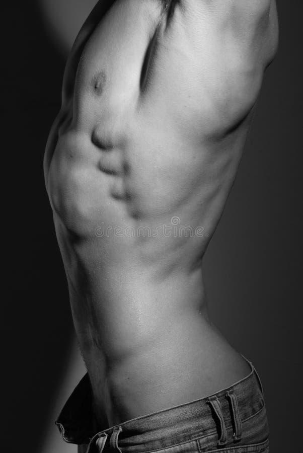 Mit Muskeln Mann lizenzfreie stockbilder