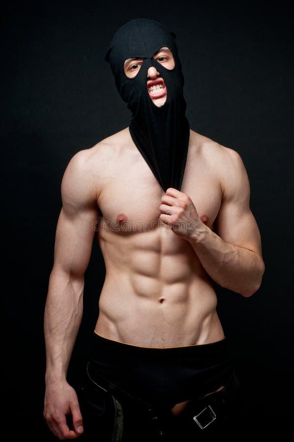 Mit Muskeln Mann stockfoto