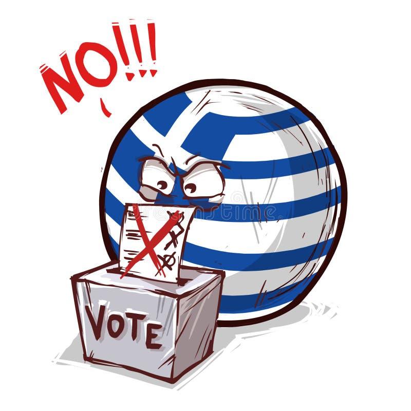 Mit Nein stimmenes Griechenland lizenzfreie abbildung