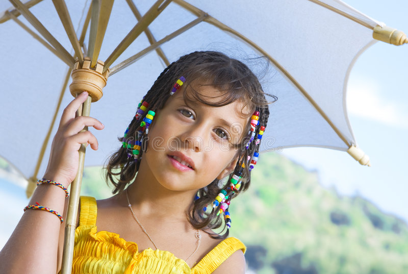 Mit Regenschirm stockfotos