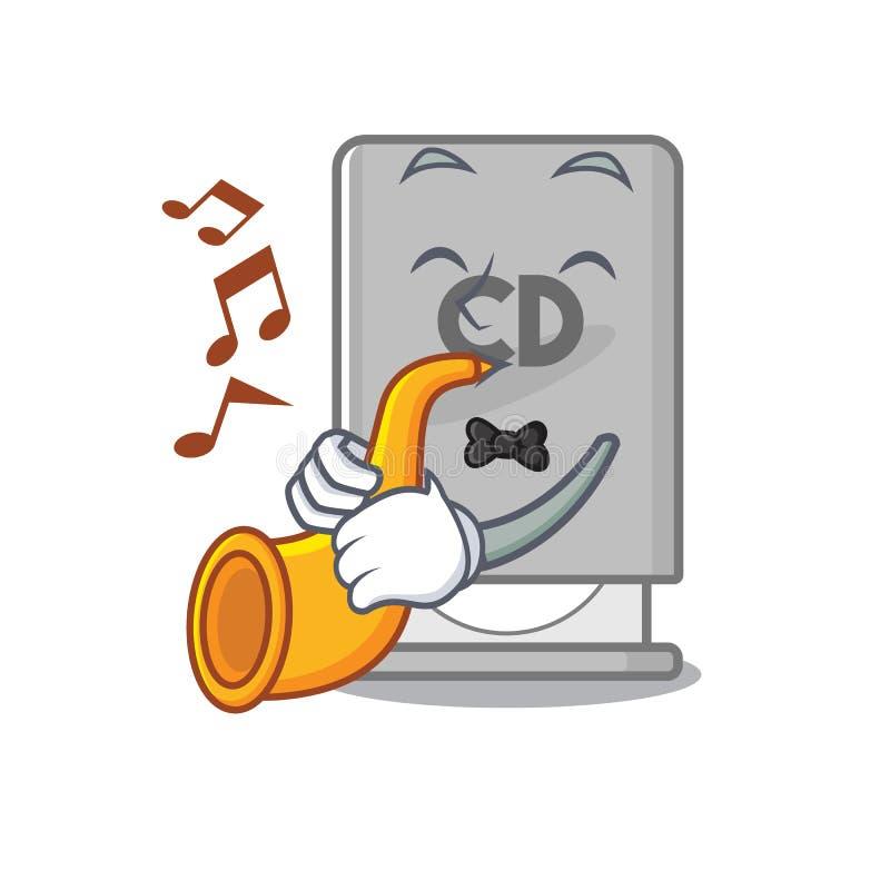 Mit Trompete-Rom-Laufwerk mit Cartoonform lizenzfreie abbildung