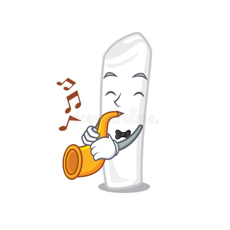 Mit Trompetenkreide im a-Karikaturkasten lizenzfreie abbildung
