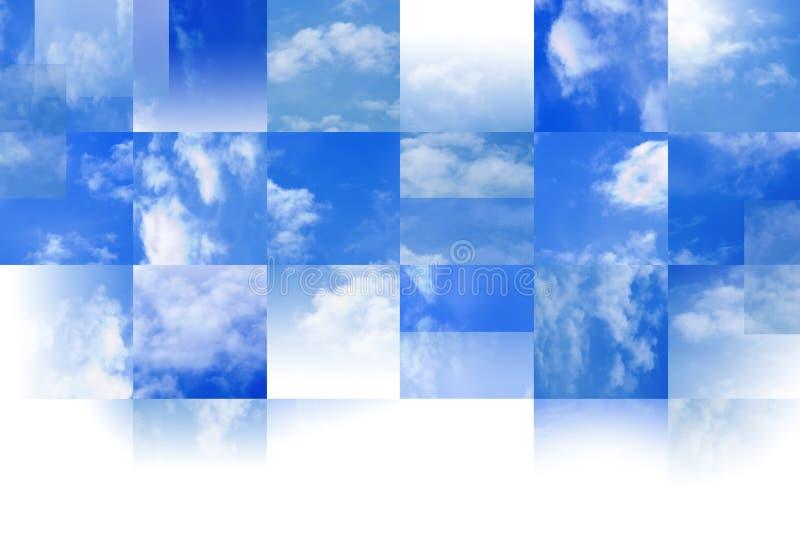 Mit Ziegeln gedeckter Himmelhintergrund stockfoto