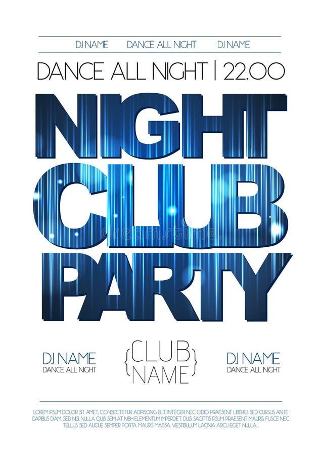 Mit zusätzlichem vektorformat Abstrakter dekorativer Hintergrund Nachtclubpartei stock abbildung