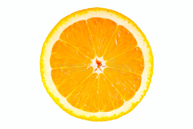 Mitad anaranjada aislada foto de archivo