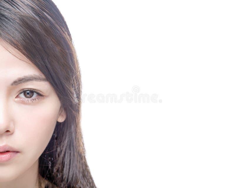 Mitad de la cara femenina asiática fotos de archivo libres de regalías