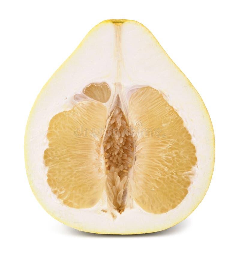 Mitad de la fruta del pomelo imagen de archivo libre de regalías