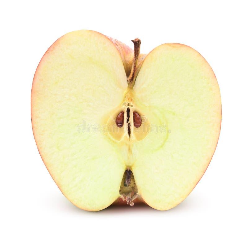 Mitad de la manzana fotos de archivo libres de regalías