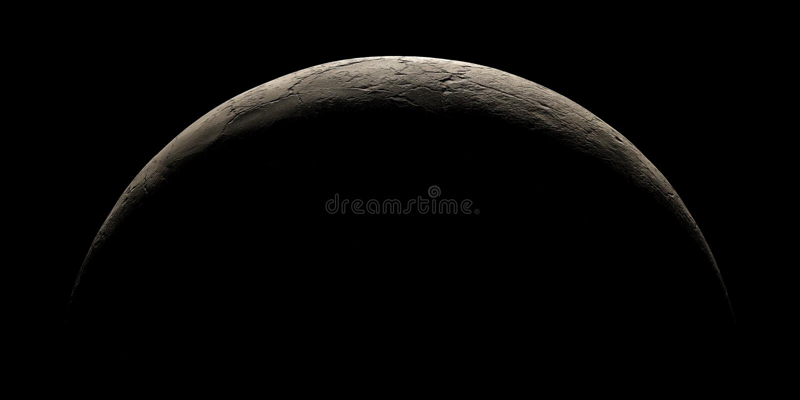 Mitad de la representación superficial sin vida del planeta 3d foto de archivo libre de regalías
