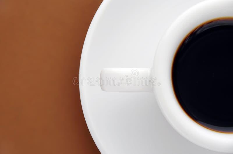 Mitad de un café express imágenes de archivo libres de regalías