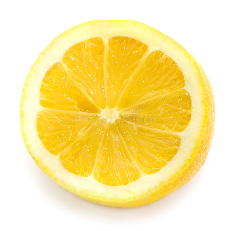 Mitad de un limón fotos de archivo