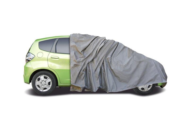 Mitad del coche cubierta fotografía de archivo