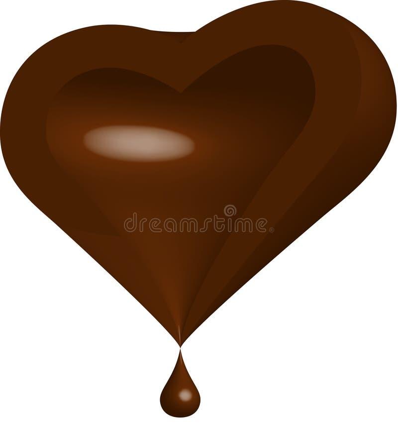 Mitad del corazón del chocolate ilustración del vector