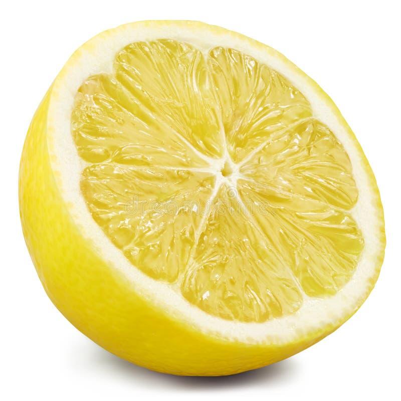 Mitad del limón aislada imagen de archivo