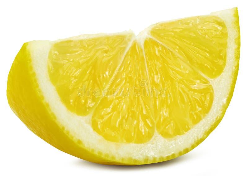 Mitad del limón aislada foto de archivo libre de regalías