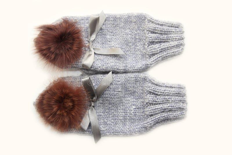 Mitaines de laine photographie stock