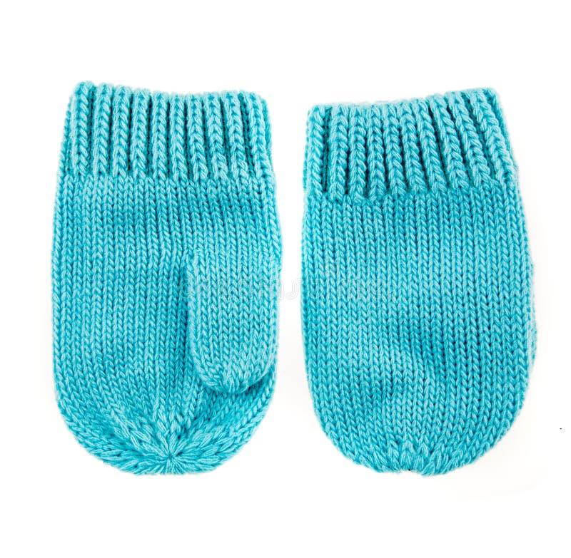 Mitaines de laine de bébé images libres de droits
