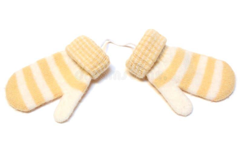 mitaines deux laines chaudes de l'hiver image libre de droits
