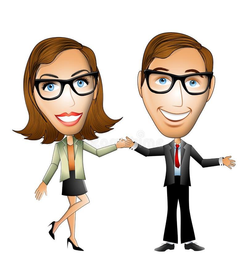 Mitarbeiter-Freund-Mann-Frau lizenzfreie abbildung